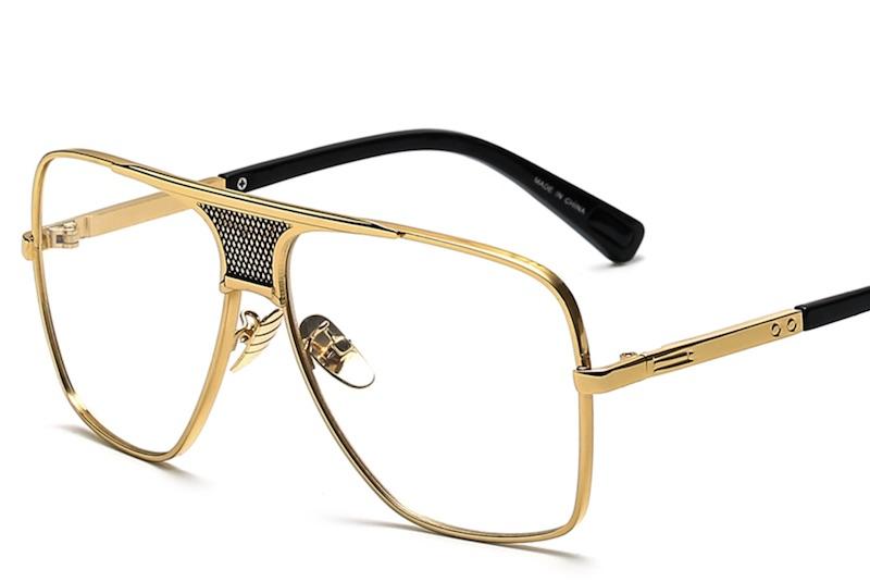 Contoh kacamata frame emas